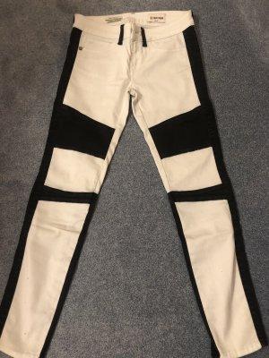 Rich & Royal Skinny Jeans white-black spandex