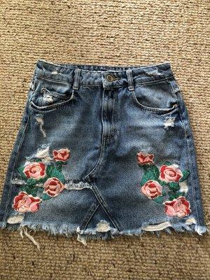 Zara Gonna di jeans multicolore