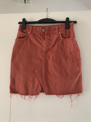 Asos Denim Jupe en jeans orange foncé-abricot