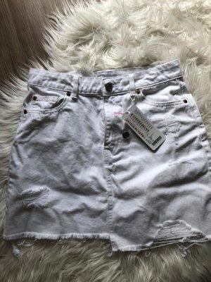 New Yorker Robe en jean blanc