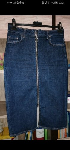 H&M Basic Gonna di jeans blu scuro