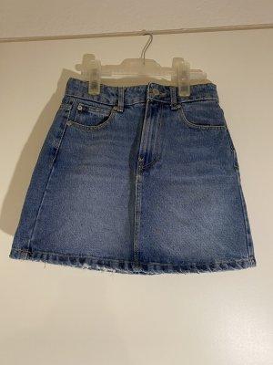 Bershka Jupe en jeans bleu acier