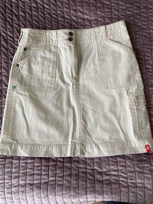 Jeans Rock beige Gr. 36 von Esprit