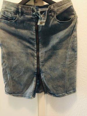 Gonna di jeans blu acciaio