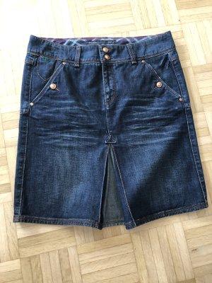 Campus Marco Polo Denim Skirt blue-dark blue cotton