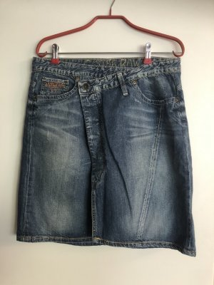 Gonna di jeans multicolore