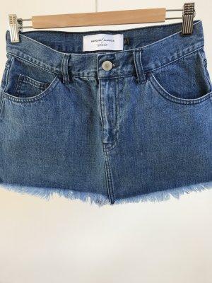 Topshop Jupe en jeans bleu acier