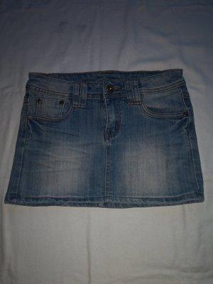 Jeans- Rock In 5 Pocket Style  Gürtelschlaufen/ mit Strecht Anteil