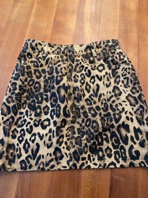 Jeans Rock - Leoparden Muster