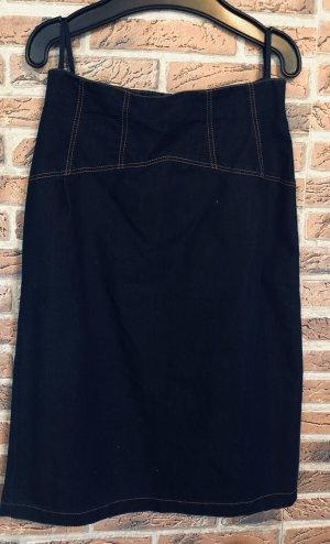 High Waist Skirt dark blue