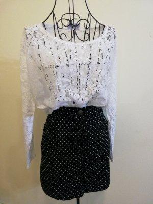Janina Denim Denim Skirt white-black