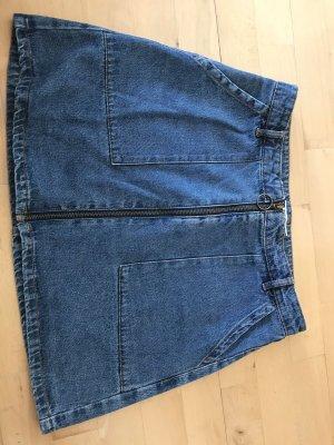 Jeans Rock mit Reisverschluss