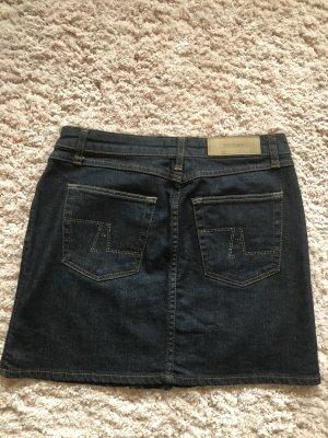 Jeans-Rock mit Strass-Applikationen