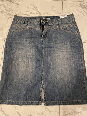 Marco Pecci Gonna di jeans blu scuro-blu