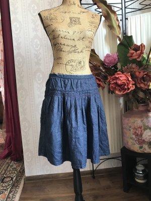 BOSS HUGO BOSS Denim Skirt dark blue-cornflower blue