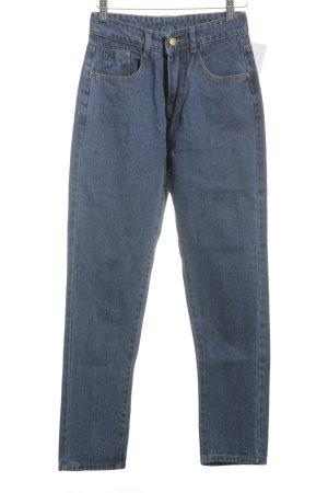 Jeans Röhrenjeans blau schlichter Stil