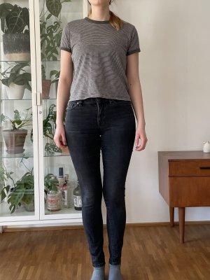 Jeans / Röhrenjeans mid rise selected femme washed black 26/30