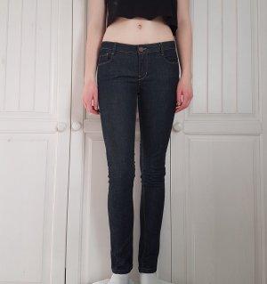 Zara Pantalone a sigaretta blu-blu scuro