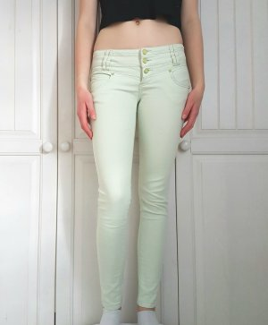 Jeans Röhrenjeans Röhrenhose röhren hose pastelgrün pastel grün pants 34 XS