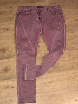 Jeans rosa knöchellang