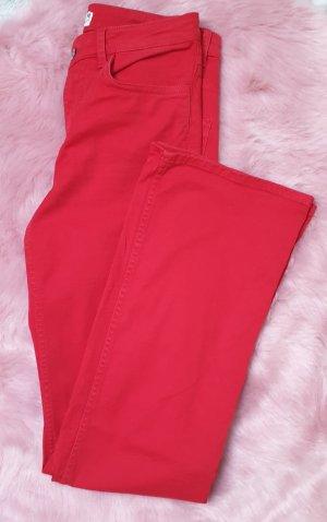 H&M Vaquero de corte bota rojo ladrillo