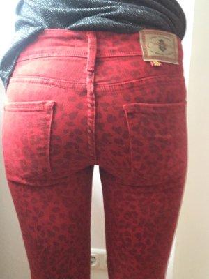 Cimarron Jeans skinny rosso-nero Cotone