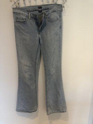 BIGSTAR Jeansowe spodnie dzwony błękitny-chabrowy