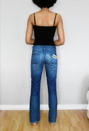 Jeans Schlaghose mit Muscheln