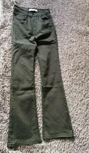 Jeans a zampa d'elefante cachi Cotone