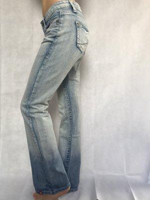 edc by Esprit Jeans flare bleu azur-bleu acier