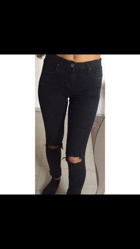 pantalón de cintura baja negro