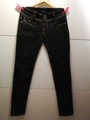 Jeans met rechte pijpen zwart