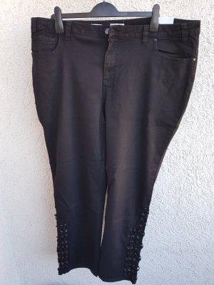 Jeans schwarz denim mit Deko-Schnürung, Gr. 54