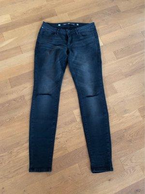 """Jeans schwarz, destroyed Look (Knie """"zerrissen"""")"""