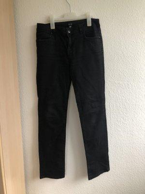 1.2.3. UN DEUX TROIS Paris Jeansy z prostymi nogawkami czarny