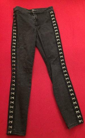 FB Sister Jeans de moto noir-gris anthracite