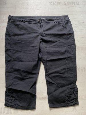 Jeans schwarz Stoff Capri Jeans Größe 52