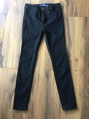 Jeans schwarz von HOLLISTER Skinny High-Rise Größe 25=XS