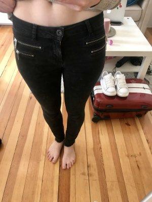 Hallhuber Jeansy o obcisłym kroju czarny