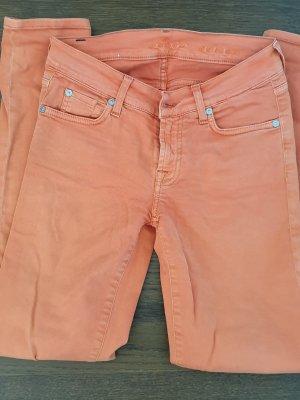 7 For All Mankind Dopasowane jeansy pomarańczowy