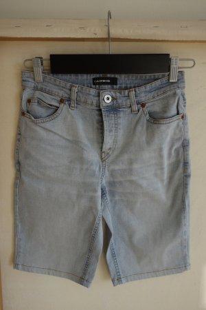 Cambio Jeans Pantalón corto de tela vaquera azul celeste Algodón