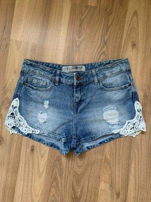 Denim Co. Pantaloncino di jeans blu-bianco