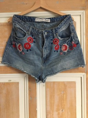 Denim Co. High-Waist-Shorts multicolored