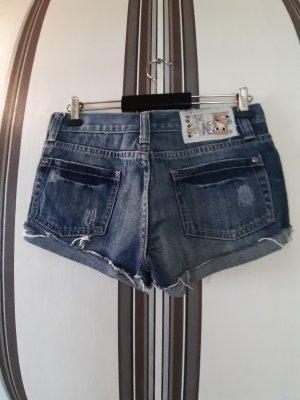 Mango Shorts blue cotton