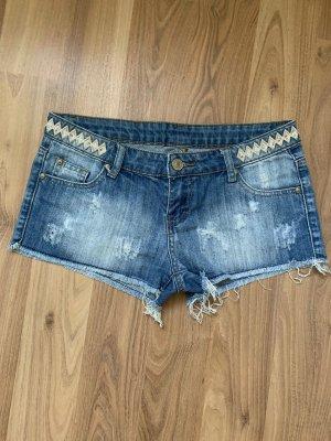 Denim Co. Pantaloncino di jeans bianco-blu