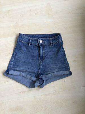 H&M Divided Short en jean bleu acier coton