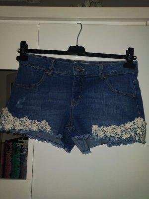 Clockhouse Denim Shorts white-blue