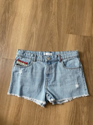 Jeans Short mit Strick