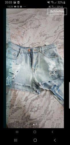 Zara Woman Denim Shorts azure