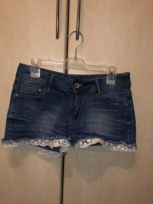 Regular Denim Spijkershort korenblauw